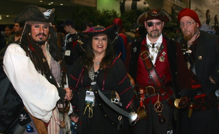 A group of Pirates at NYCC 2015, but is one not like the others? (Photo by Jonathan Wolk for PopCultureUncovered.com)