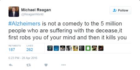 Michael Reagan tweet