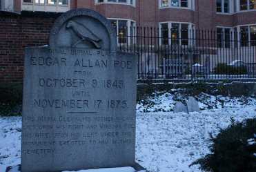 The grave of Edgar Allan Poe in Baltimore, MD.