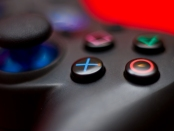 Close-up of a Playstation controller