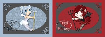 The Angel & Devil cards in Turn of Phrase.