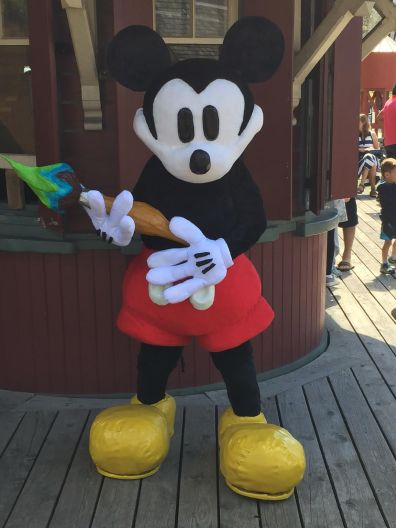 Mickey Mouse with paintbrush