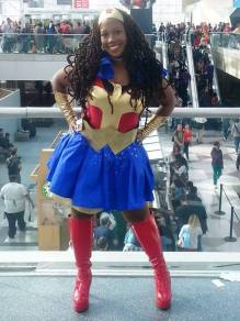 Lizzette L. - Wonder Woman means to be strength in a man's world. She is fearless and bold. Like me.