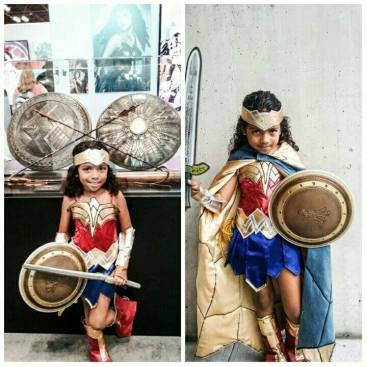 Julio M. - This is Tesla. Age 6. She says when she grows up she wants to help the world just like Wonder Woman.