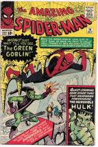 Green Goblin was always my favorite villain. I always collected appearances of him, but I never thought I would own a first appearance. I bought this at a convention about 20 years ago from a kid that needed to sell his comics to pay for college. It's also the only appearance (that I know of) of the flying broomstick.