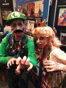 Zombie Luigi and Peach