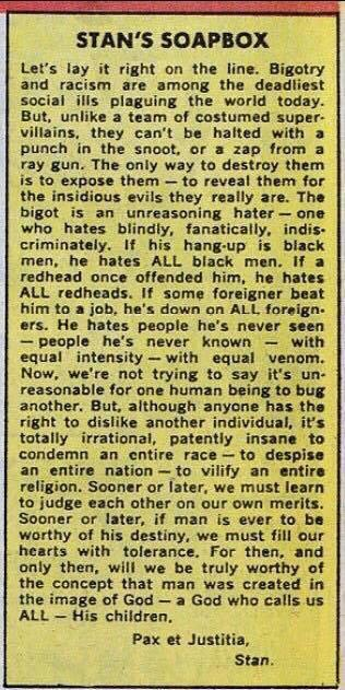 Stan on bigotry