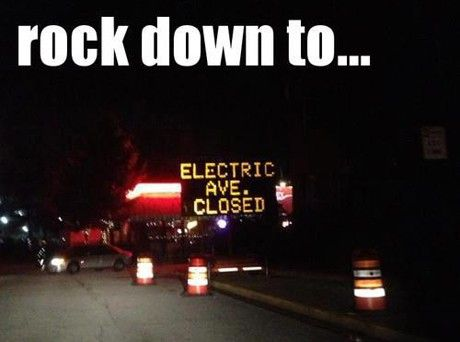 Electric Avenue Sign