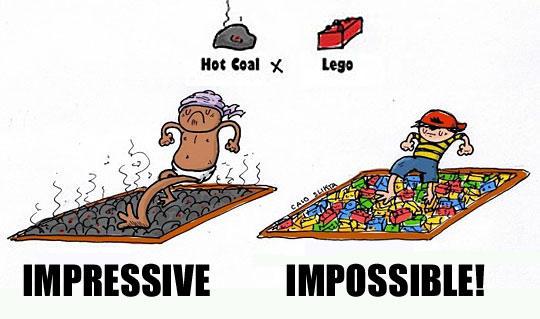 Hot Coals vs Legos