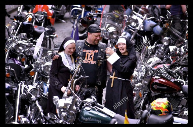 Hells Angels and lager drinking Nuns. August 2003