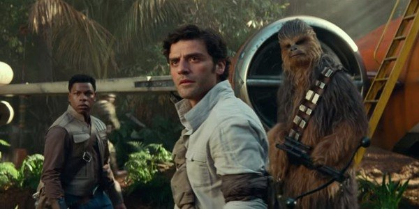 finn, poe and chewie