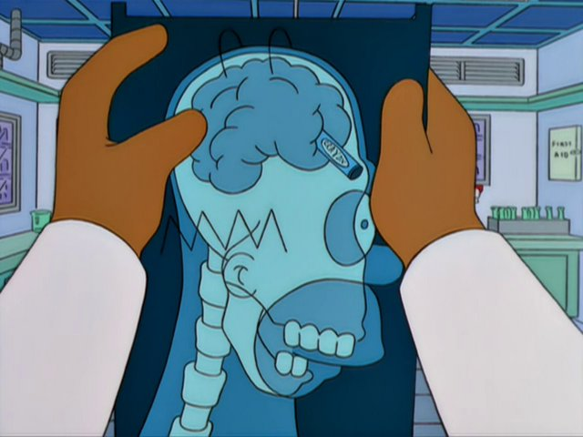 Simpsons Homer Brain Crayon